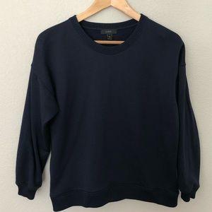 J. Crew Navy Blue Cropped Sweatshirt XXS